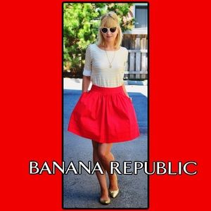 Banana Republic Solid Full Circle Skirt